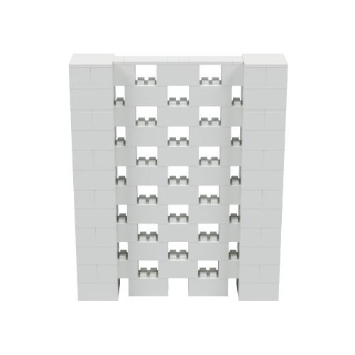 5' x 6' Light Gray Open Stagger Block Wall Kit