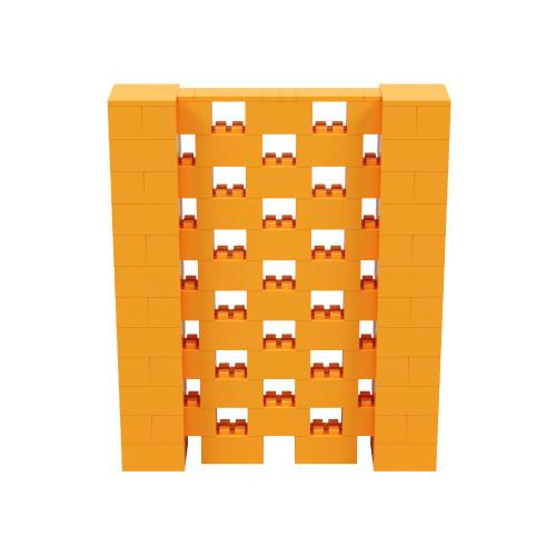 5' x 6' Orange Open Stagger Block Wall Kit