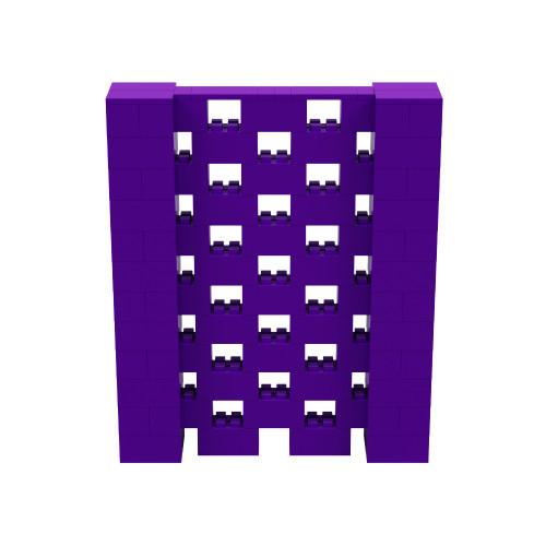 5' x 6' Purple Open Stagger Block Wall Kit