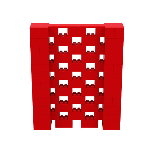 5' x 6' Red Open Stagger Block Wall Kit