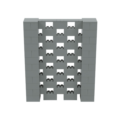 5' x 6' Silver Open Stagger Block Wall Kit