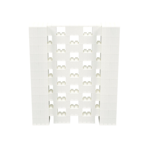 5' x 6' Translucent Open Stagger Block Wall Kit