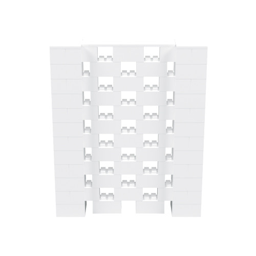 5' x 6' White Open Stagger Block Wall Kit