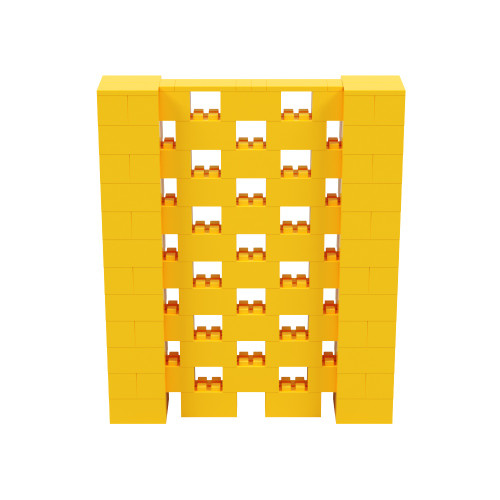 5' x 6' Yellow Open Stagger Block Wall Kit
