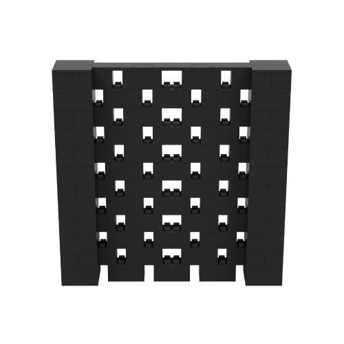 6' x 6' Black Open Stagger Block Wall Kit