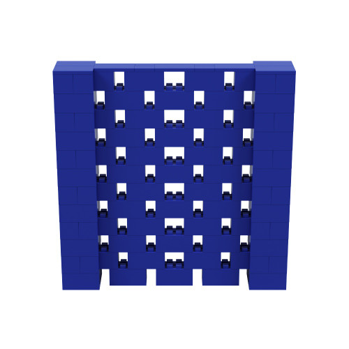 6' x 6' Blue Open Stagger Block Wall Kit