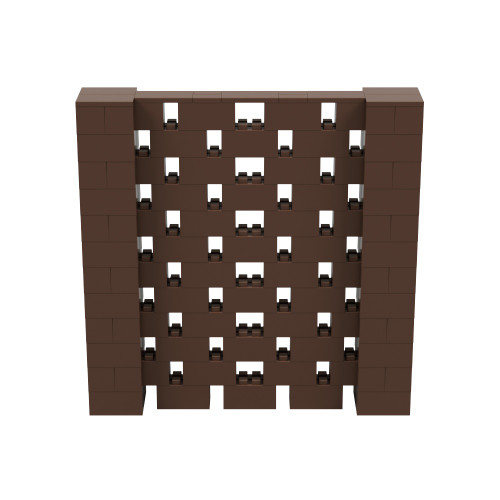 6' x 6' Brown Open Stagger Block Wall Kit