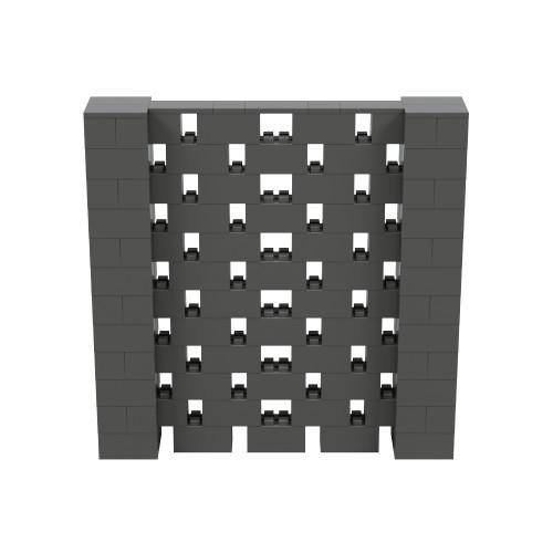 6' x 6' Dark Gray Open Stagger Block Wall Kit