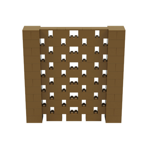 6' x 6' Gold Open Stagger Block Wall Kit