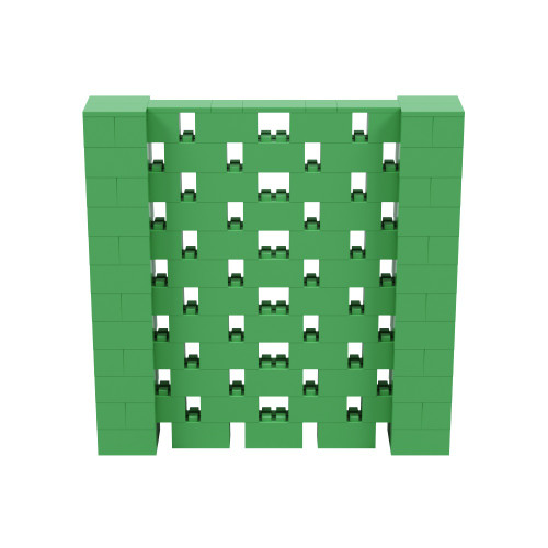 6' x 6' Green Open Stagger Block Wall Kit
