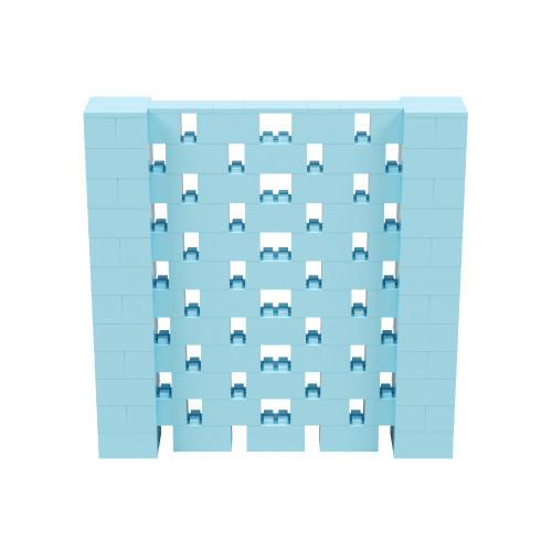6' x 6' Light Blue Open Stagger Block Wall Kit