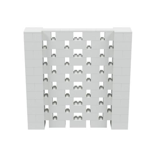 6' x 6' Light Gray Open Stagger Block Wall Kit