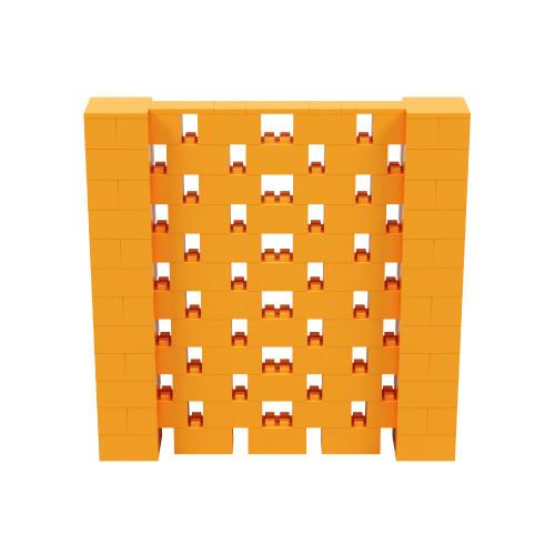 6' x 6' Orange Open Stagger Block Wall Kit
