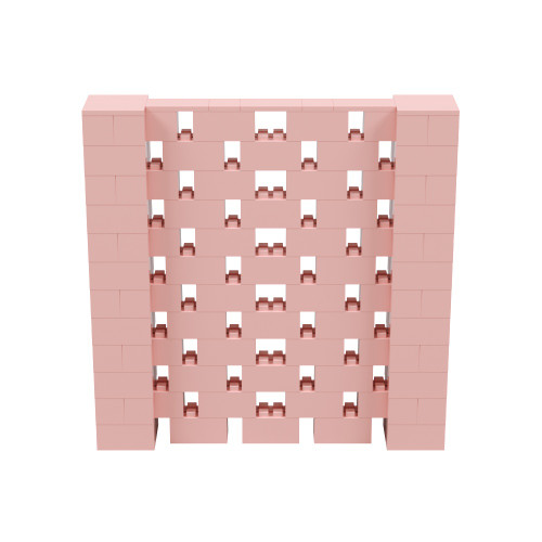 6' x 6' Pink Open Stagger Block Wall Kit