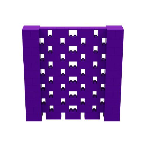 6' x 6' Purple Open Stagger Block Wall Kit