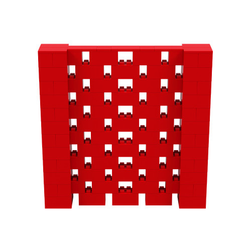6' x 6' Red Open Stagger Block Wall Kit