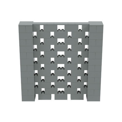 6' x 6' Silver Open Stagger Block Wall Kit