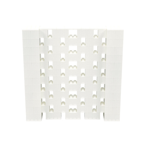 6' x 6' Translucent Open Stagger Block Wall Kit