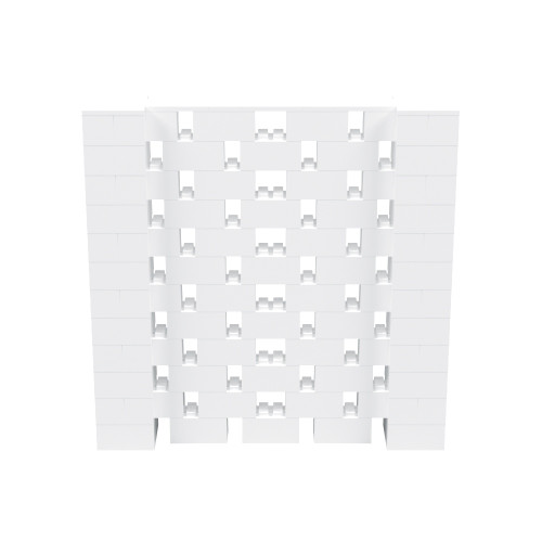 6' x 6' White Open Stagger Block Wall Kit