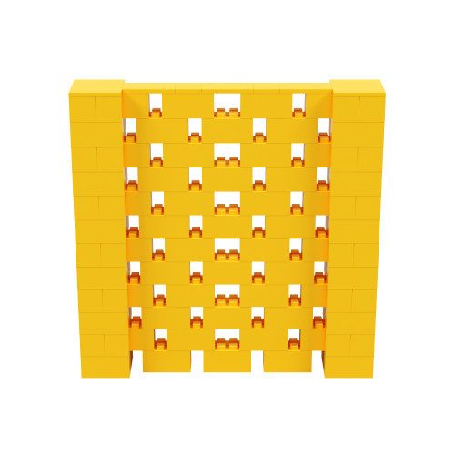 6' x 6' Yellow Open Stagger Block Wall Kit