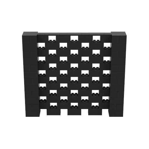 7' x 6' Black Open Stagger Block Wall Kit