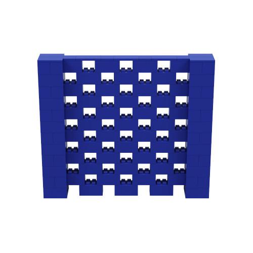 7' x 6' Blue Open Stagger Block Wall Kit