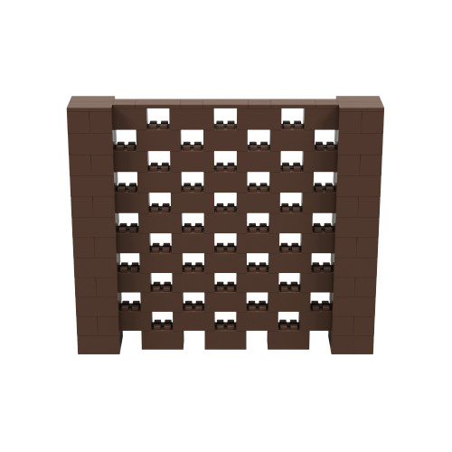 7' x 6' Brown Open Stagger Block Wall Kit