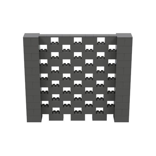 7' x 6' Dark Gray Open Stagger Block Wall Kit