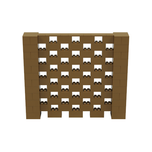 7' x 6' Gold Open Stagger Block Wall Kit