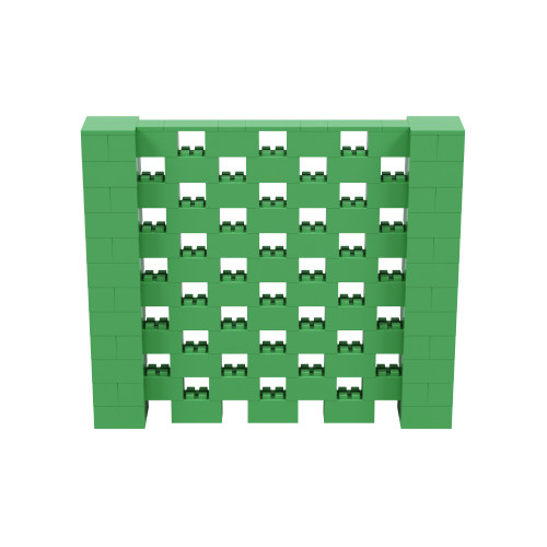 7' x 6' Green Open Stagger Block Wall Kit