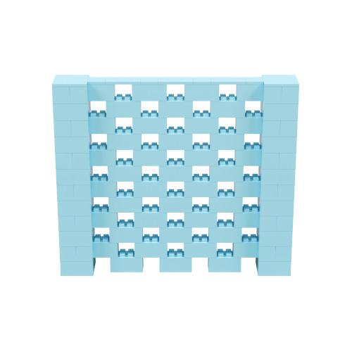 7' x 6' Light Blue Open Stagger Block Wall Kit