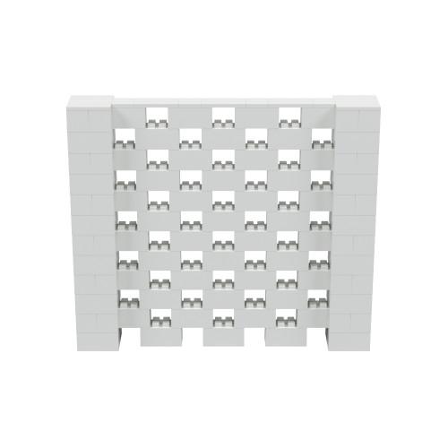 7' x 6' Light Gray Open Stagger Block Wall Kit