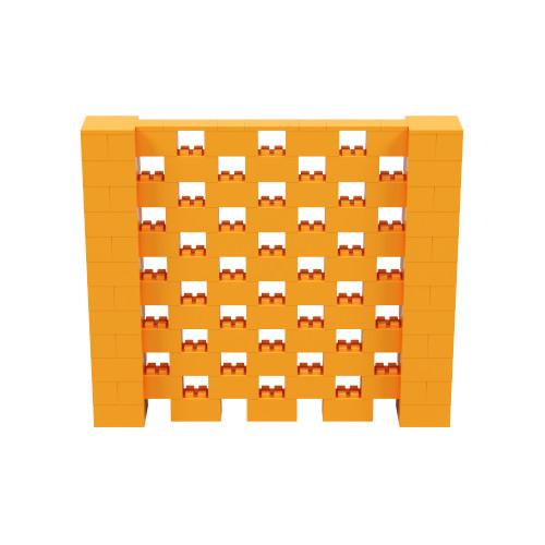 7' x 6' Orange Open Stagger Block Wall Kit