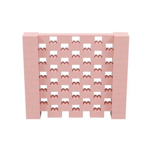 7' x 6' Pink Open Stagger Block Wall Kit