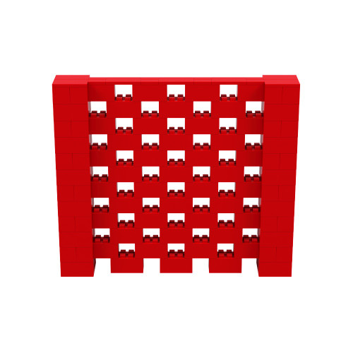7' x 6' Red Open Stagger Block Wall Kit