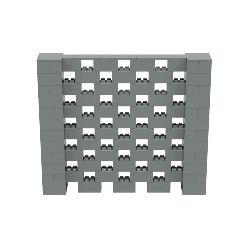 7' x 6' Silver Open Stagger Block Wall Kit