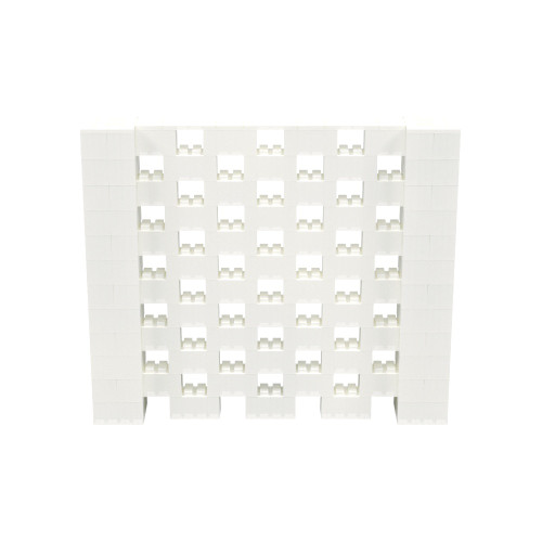 7' x 6' Translucent Open Stagger Block Wall Kit