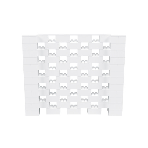 7' x 6' White Open Stagger Block Wall Kit