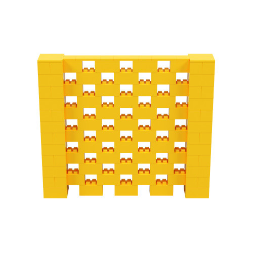 7' x 6' Yellow Open Stagger Block Wall Kit