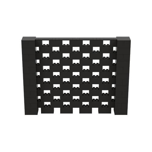 8' x 6' Black Open Stagger Block Wall Kit