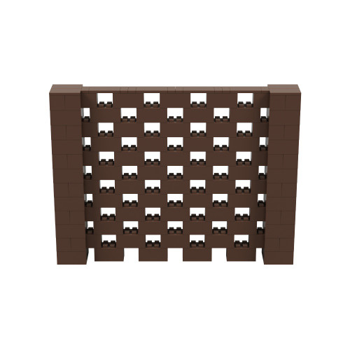 8' x 6' Brown Open Stagger Block Wall Kit