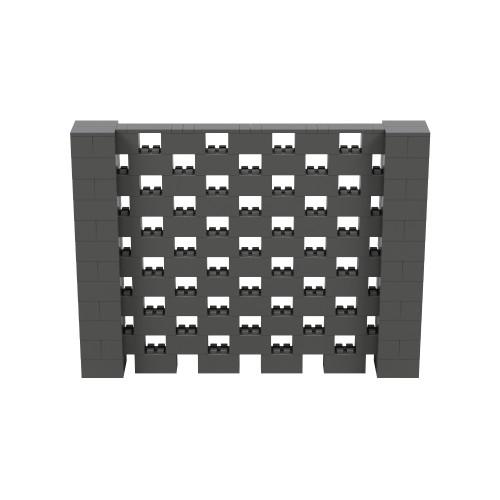 8' x 6' Dark Gray Open Stagger Block Wall Kit