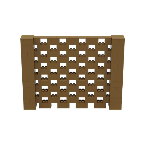 8' x 6' Gold Open Stagger Block Wall Kit