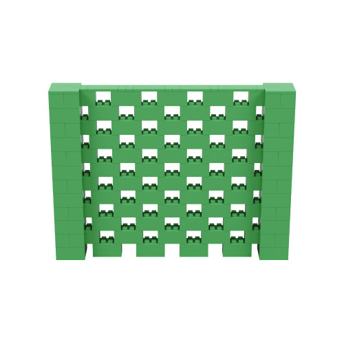 8' x 6' Green Open Stagger Block Wall Kit