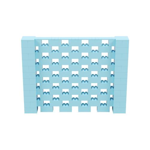 8' x 6' Light Blue Open Stagger Block Wall Kit