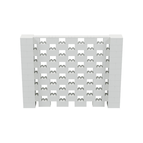 8' x 6' Light Gray Open Stagger Block Wall Kit