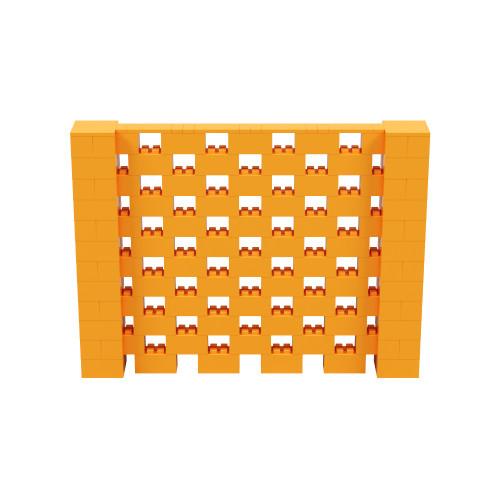 8' x 6' Orange Open Stagger Block Wall Kit