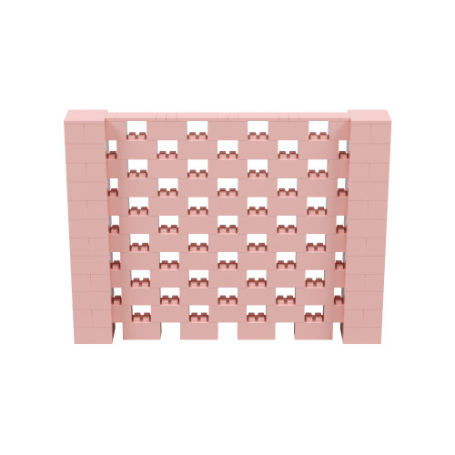8' x 6' Pink Open Stagger Block Wall Kit
