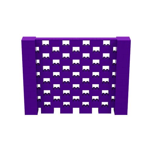 8' x 6' Purple Open Stagger Block Wall Kit