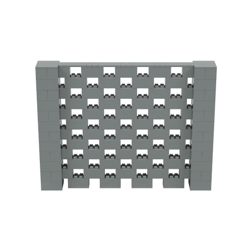 8' x 6' Silver Open Stagger Block Wall Kit